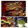 うなぎの黒田屋 - 料理写真:かば焼き定食「上:2400円」鰻は多分一尾だと思います。炭火で焼かれているので香ばしいですね。 タレはかなり甘めでしょうか。 肝吸いも普通に美味しいですよ。