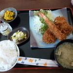 ひの亭 - ミックスフライ定食