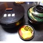 31619755 - 鰻丼(1500円)・・鰻丼・肝吸い・香の物のセットです