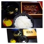 31619757 - ◆かば焼き定食(上:2400円)・・鰻・肝吸い・香の物・ご飯のセット。