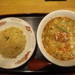 東竜 - 半チャーハン+坦々麺セット