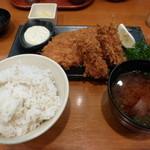31621380 - カキフライと健美豚ロースかつ定食¥1590