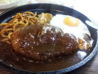 はと屋 - 2014.10)ハンバーグ定食(950円)