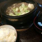 31622034 - 牛すじ石焼スープ定食