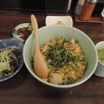 幸の鶏 - ランチの地鶏の親子丼セット