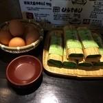 31625544 - 定番のはや寿司&ゆで卵