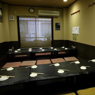 10名~20名様まで、個室が使えます。