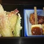 和中旬菜 威風堂々 - 天ぷらに田楽、鶏の照り焼き(2014.10撮影)