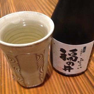 あみだそば 遊歩庵 - 日本酒(福の井)