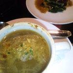 レガル - オニオングラタンスープ、フォアグラのソテー