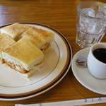 31630347 - アイスコーヒー                       エビフライサンドイッチ