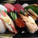 磯寿司 - 桶に入れて貰わなかったから、豪華さに欠けるけど…美味しかったです