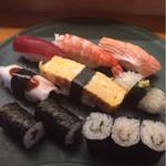 は満寿司 - お昼ごはん(¥1,080)セットのお寿司