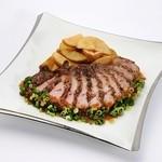 留萌マルシェ - 「熟成豚肉のステーキ」