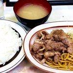 洋庖丁 - ポークからし焼肉ランチ並650円