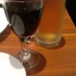31634606 - 生ビール(中)(380円)&グラスワイン(赤)(480円)