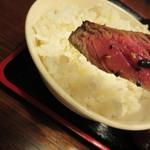 かつ亭 - お肉の焼き加減はミディアムレア