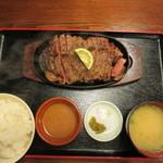 かつ亭 - ステーキ定食 5L(550g) 2780円