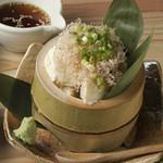 竹筒寄せ豆腐  480円(税別)