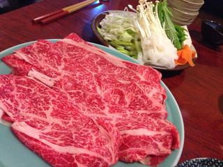 今半 別館 - 上肉定食2500円(しゃぶ)