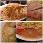麺屋 梵天 - ラーメン太麺(ニンニクは必須です!!!)
