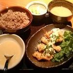 Torigen - 鶏カラ南蛮定食750円 玄米変更無料です♪