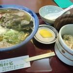 西村屋 - 山菜そばセット 880円