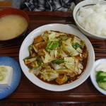 Miyoshishokudou - 回鍋肉定食1030円
