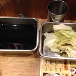 串かつ でんがな 姫路店 - キャベツ、付け汁