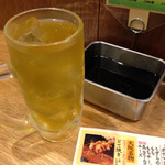 串かつ でんがな 姫路店 - 緑茶ハイ