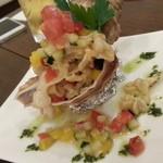 プティヴェール - つぶ貝のマリネサラダ仕立て