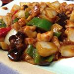 健康中華庵 青蓮 - 鶏肉の中華味噌炒め アップ