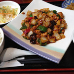 健康中華庵 青蓮 - 鶏肉の中華味噌炒め定食