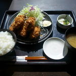 とんかつ 和幸 - カキフライ御膳                  (1,180円)