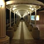メインバー「キャプテンズバー」 - 台場駅からホテルへのアプローチ