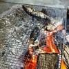 郡上八幡 大滝鍾乳洞 - 料理写真:2014.10 ニジマスの塩焼き