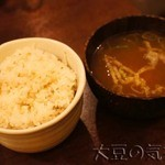 朝日屋 - ご飯と味噌汁