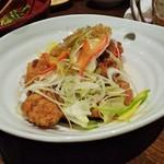 手作り料理と地酒 おと - 鶏の黒酢ネギソース