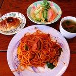 無国籍料理 シンドバット - 料理写真:シンドバット @佐野 スパゲティセット 850円