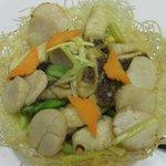 中国料理 李芳 - ホタテと鯛のXO醤炒め