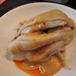 めだかタンタン - ツヤツヤプリプリのバンバンジー(蒸し鶏)