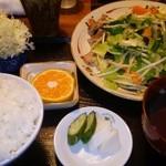ふう - 野菜炒め定食730円(2014・10)