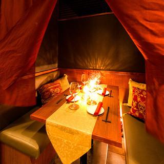 完全個室でゆったり寛いだ宴会をお楽しみください。