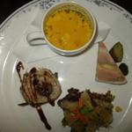 レストラン唐津迎賓館 - 前菜の盛り合わせ・本日のスープ