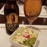 31680932 - スリランカの小瓶ビール+ランチにセットのサラダ