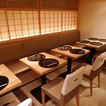銀座 捨松 - テーブル席(10席)