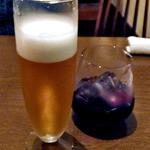 マイアリーノ - 生ビール(2口飲みました)& ノンアルコールワイン(赤)(2014年10月)