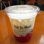 カフェ デュ モンド - ベリーゼリー&ミルク(450円)