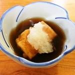 江洲の花 - 揚げだし豆腐入り 天つゆ