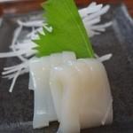 はまなす亭 - (2014/8月)「はまなす定食」のイカ刺身